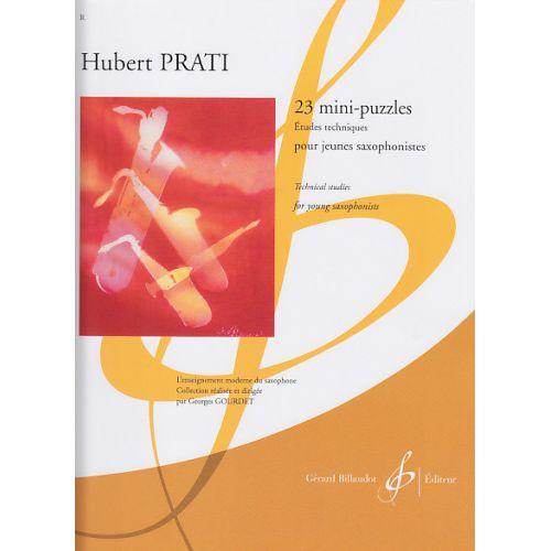 BILLAUDOT PRATI HUBERT - 23 MINI-PUZZLES (ETUDES) - SAXOPHONE
