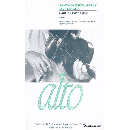 BILLAUDOT LENERT JEAN - L'ABC DU JEUNE ALTISTE VOL.1 - ALTO