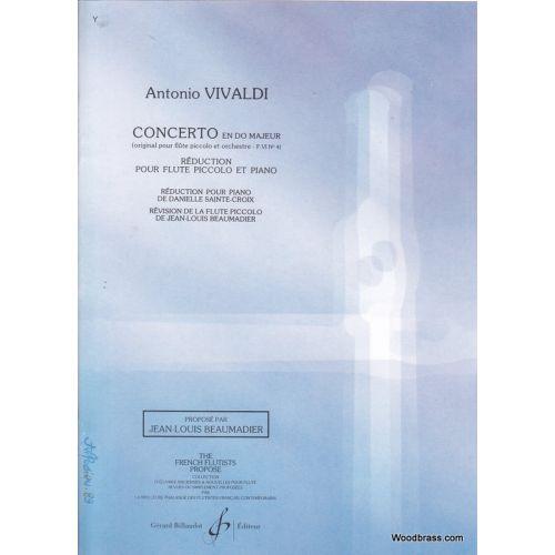 BILLAUDOT VIVALDI A. - CONCERTO EN DO MAJEUR FVI No4 - FLUTE PICCOLO ET PIANO