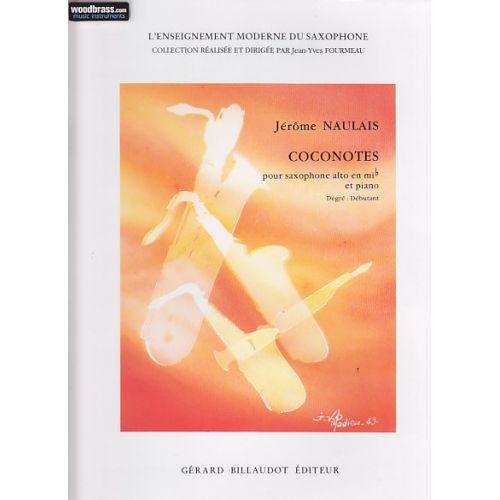 BILLAUDOT NAULAIS J. - COCONOTES - SAXOPHONE, PIANO