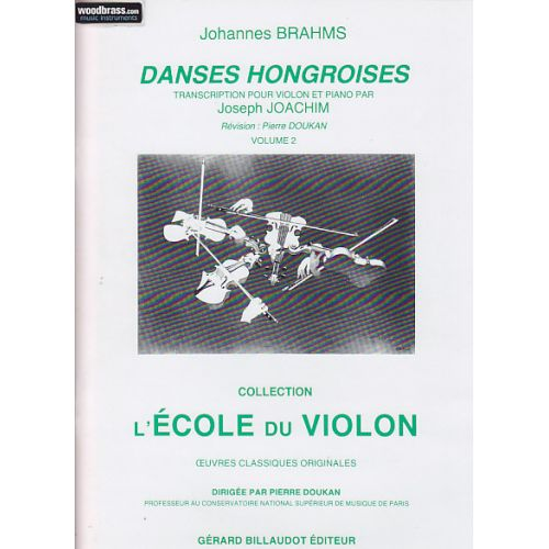 BILLAUDOT BRAHMS J. - DANSES HONGROISES VOL.2 - VIOLON, PIANO