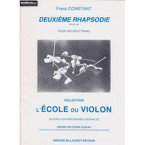 BILLAUDOT CONSTANT FRANZ - DEUXIEME RHAPSODIE - VIOLON, PIANO
