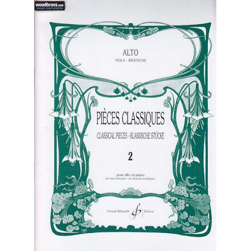 BILLAUDOT PIECES CLASSIQUE VOL 2 - ALTO, PIANO