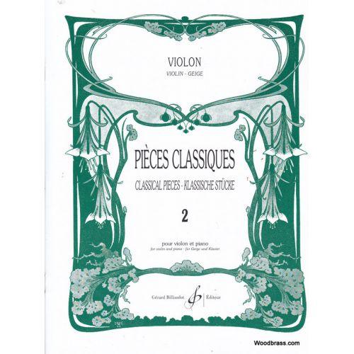 BILLAUDOT PIECES CLASSIQUES VOLUME 2 - VIOLON