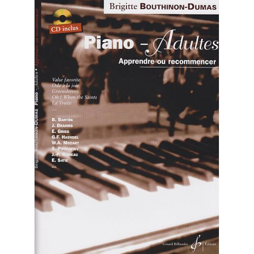 BILLAUDOT BOUTHINON-DUMAS BRIGITTE - PIANO ADULTES VOL.1 + CD