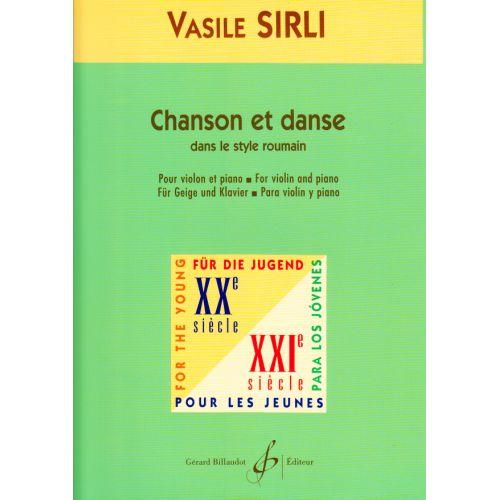 BILLAUDOT SIRLI V. - CHANSON ET DANSE - VIOLON ET PIANO