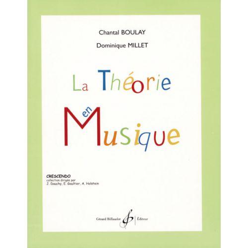 BILLAUDOT BOULAY/MILLET - LA THEORIE EN MUSIQUE