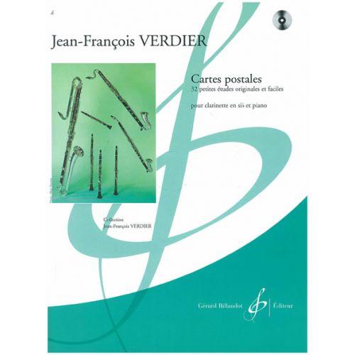 BILLAUDOT VERDIER JEAN-FRANÇOIS - CARTES POSTALES + CD - CLARINETTE SIB, PIANO
