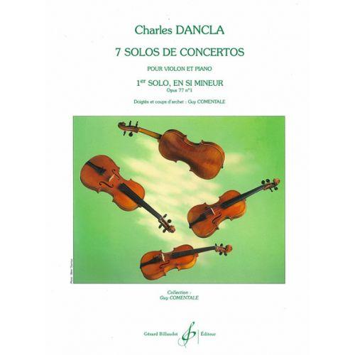 BILLAUDOT DANCLA CHARLES - SOLO DE CONCERTO OP.77 N°1 EN SI MINEUR - VIOLON, PIANO