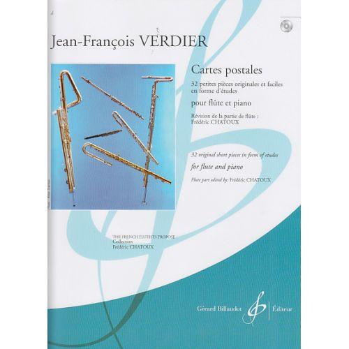 BILLAUDOT VERDIER J.F. - CARTES POSTALES + CD - FLUTE, PIANO