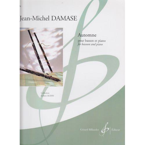 BILLAUDOT DAMASE JEAN-MICHEL - AUTOMNE - BASSON, PIANO