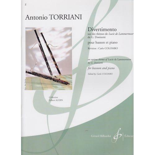 BILLAUDOT TORRIANI ANTONIO - DIVERTIMENTO SUR DES THEMES DE L'OPERA LUCIE  DE LAMMERMOOR DE DONIZETTI - BASSON,