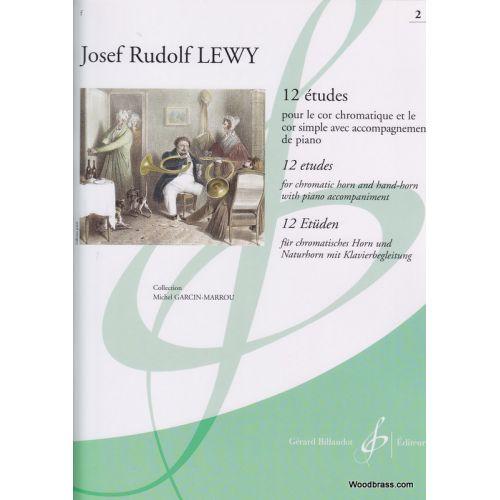 BILLAUDOT LEWY J. R. - 12 ETUDES VOL. 2 - COR