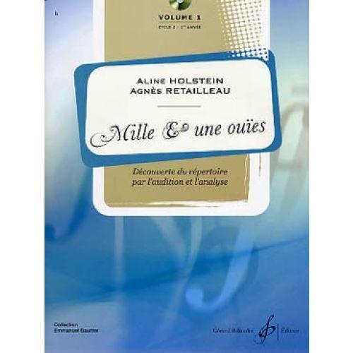 BILLAUDOT HOLSTEIN ALINE / RETAILLEAU AGNES - MILLES ET UNE OUIES VOL.1 + CD