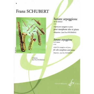 BILLAUDOT SCHUBERT FRANZ - SONATE ARPEGGIONE EN LA MINEUR D 821 - SAXOPHONE MI B