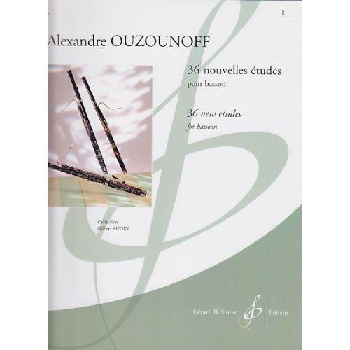 BILLAUDOT OUZOUNOFF ALEXANDRE - 36 NOUVELLES ETUDES VOL.1 - BASSON