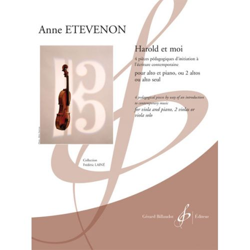 BILLAUDOT ETEVENON ANNE - HAROLD ET MOI - ALTO