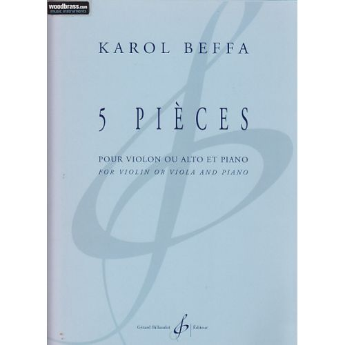 BILLAUDOT BEFFA KAROL - 5 PIECES - VIOLON, PIANO