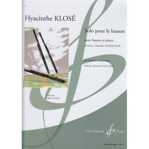 BILLAUDOT KLOSE H. - SOLO POUR LE BASSON