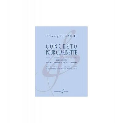 BILLAUDOT ESCAICH THIERRY - CONCERTO POUR CLARINETTE