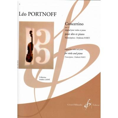 BILLAUDOT PORTNOFF LEO - CONCERTINO OP.13 - ALTO & PIANO