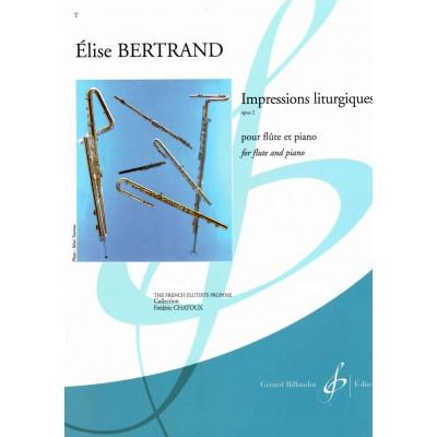 BILLAUDOT BERTRAND ELISE - IMPRESSIONS LITURGIQUES OP.2 - FLUTE & PIANO
