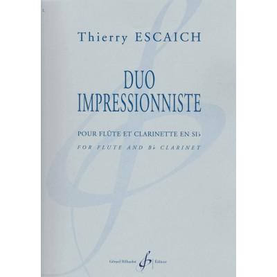 BILLAUDOT ESCAICH THIERRY - DUO IMPRESSIONNISTE - FLUTE & CLARINETTE SIb