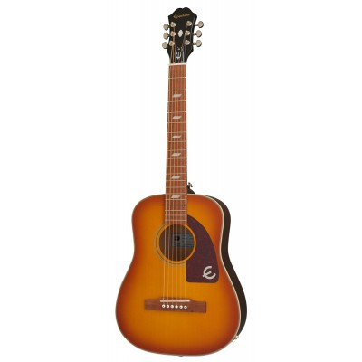 EPIPHONE ORIGINALS TRAVEL GUITAR LIL' TEX (ELECTRIC/ACOUSTIC) FADED CHERRY SUNBURST