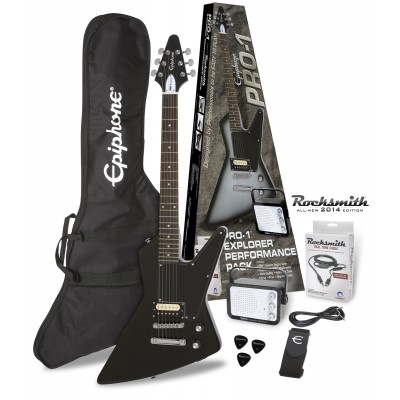 EPIPHONE PRO-1 EXPLORER EBONY PACK (ROCKSMITH) - Woodbrass.com