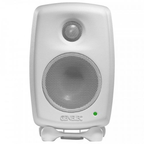 GENELEC  STUDIO MONITOR 2-WAY BI- AMPLIFIED 7.5 CM + TWEETER / DCW . 25 + 25 W. White 8010AWM