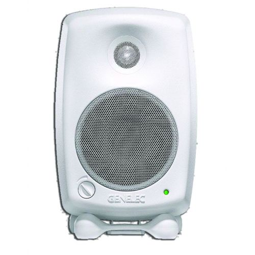GENELEC MONITOR SPEAKER BI- AMPLIFIED . 20 W + 20 W WHITE VERSION 8020CWM