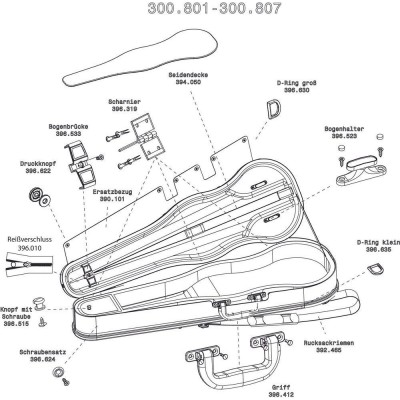 GEWA VIOLIN-SHAPED CASES LIUTERIA CONCERTO SNAP FASTENER