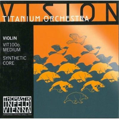 THOMASTIK STRINGS VIOLIN VISION TITANIUM ORCHESTRA SYNTHETIC CORE MEDIUM VIT100O