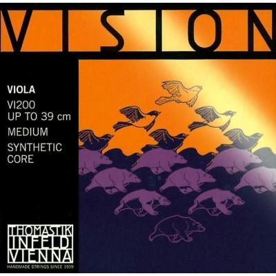 THOMASTIK STRINGS ALTO VISION SYNTHETIC CORE MEDIUM VI200