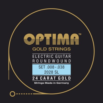 OPTIMA STRINGS FOR ELECTRIC GUITARS GOLD STRINGS ROUND WOUND RE4