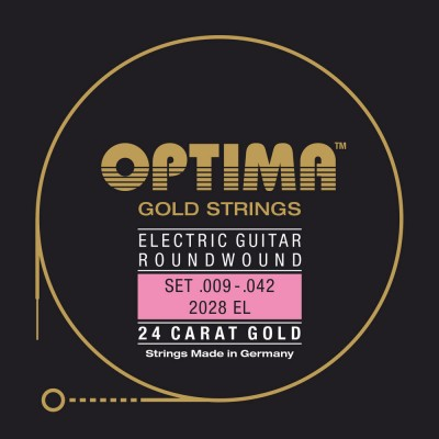 OPTIMA STRINGS FOR ELECTRIC GUITARS GOLD STRINGS ROUND WOUND MI1
