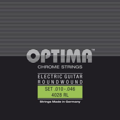 OPTIMA STRINGS FOR ELECTRIC GUITARS CHROME STRINGS ROUND WOUND MI.010