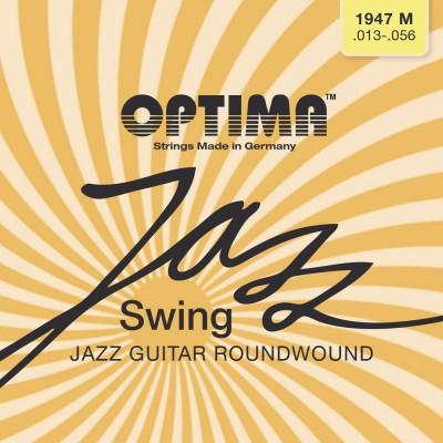 OPTIMA CORDES POUR GUITARES ELECTRIQUES JAZZ SWING SERIES ROUND WOUND JEU