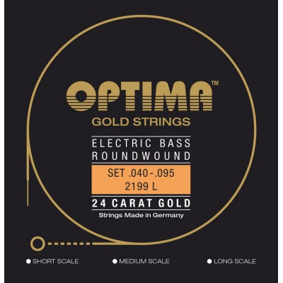OPTIMA OPTIMA STRINGS FOR ELECTRIC BASS GOLD STRINGS ROUND WOUND SET