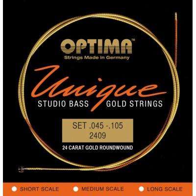OPTIMA OPTIMA STRINGS FOR ELECTRIC BASS UNIQUE STUDIO GOLD STRINGS SET