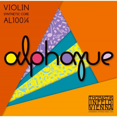 THOMASTIK 1/4 STRINGS VIOLIN ALPHAYUE CORE NYLON G SYNTHETIC/MONEL AL04