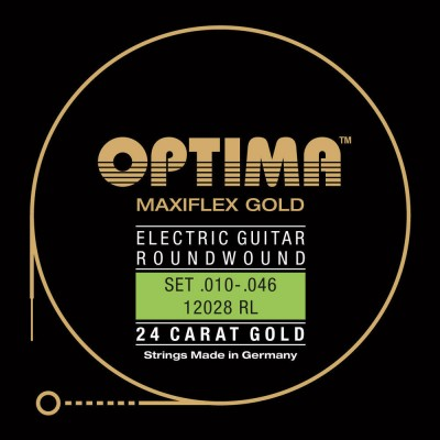 OPTIMA STRINGS FOR GOLD STRINGS ELECTRIC GUITARS. MAXIFLEX RE4