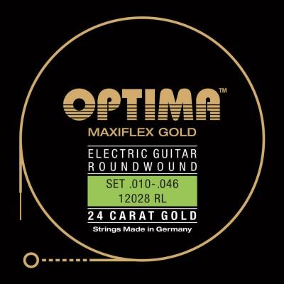 OPTIMA CORDES POUR GUITARES ELECTRIQUES GOLD STRINGS. MAXIFLEX JEU