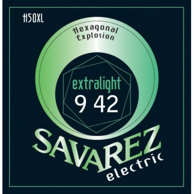 SAVAREZ SAVAREZ STRINGS FOR ELECTRIC GUITARS HEXAGONAL EXPLOSION NICKEL BLUES .011-.049