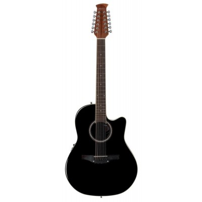 APPLAUSE BALLADEER MID CUTAWAY 12-STRING ELECTRIC GUITAR BLACK AB2412II-5