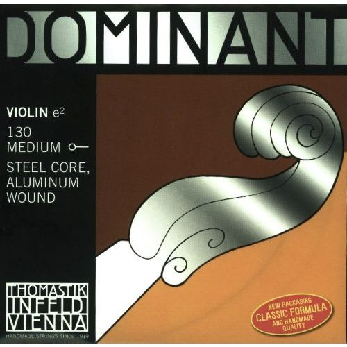 THOMASTIK 4/4 DOMINANT VIOLIN SET STRINGS MEDIUM TENSION 135