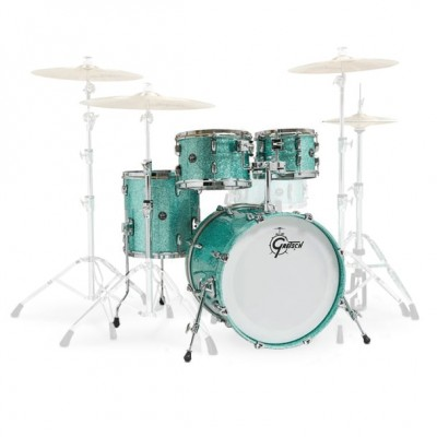 """GRETSCH DRUMS RENOWN MAPLE 20"""" 4 SHELL TURQUOISE SPARKLE"""