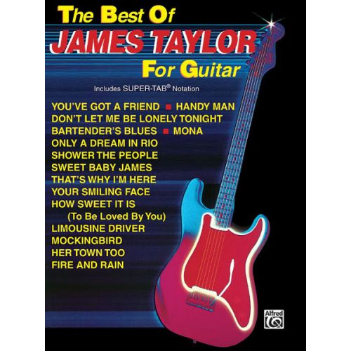 ALFRED PUBLISHING TAYLOR JAMES - BEST OF - GUITAR TAB