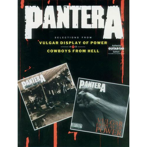 ALFRED PUBLISHING PANTERA - VULGAR DISPLAY OF POWER, COWBOYS FROM HELL - GUITAR TAB