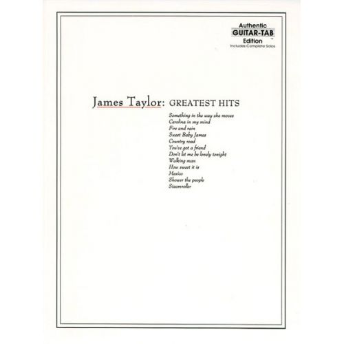 ALFRED PUBLISHING TAYLOR JAMES - GREATEST HITS - GUITAR TAB